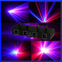 Wholesale Factory Sale mW Lens RB Four Tunnel Head double red and double blue laser light DMX Beam DJ Party Disco Club Bar Stage Laser light