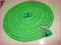 Hoses & Hose Reels   20pcs Latex 25FT 50FT 75FT 100FT green color Expandable Hose for Garden, Blue color fast connector water hose with free fedex