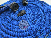 Wholesale 1pcs ft FT ft WITHE water gun Stretchy Garden Hoses Expandable Flexible Water Hose Drop shipping good quality