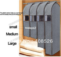 Wholesale 4Pcs Folding Coat Clothes Jacket Suit Dress Garment Storage Bags Travel Dustproof Bamboo Charcoal Cover Bag