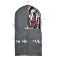 Wholesale bamboo charcoal cloth Garment Suit Dust Proof Cover Container Storage Bag New Design Gray