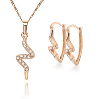 Wholesale 18K Gold plated good Crystal Fashion jewelry set