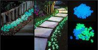 Wholesale Novelty Glow in Dark Fluorescent Pebbles Stones irregular shape stone resin stone home garden fish tank decor kilogarm