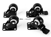 Wholesale 4 Heavy Duty kg mm Swivel Castor Wheels Trolley Furniture Caster Rolling With Brake Rubber TK1052