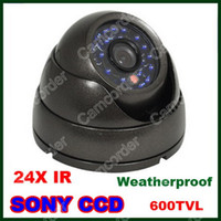 Wholesale 1 quot MM Lens Vandalproof Indoor Outdoor Dome Security SONY CCD TVL IR Camera From Camcorder