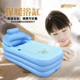 Wholesale Adult Spa PVC Folding Portable Bathtub Inflatable Bath Tub With Zipper Cover Drink Holder