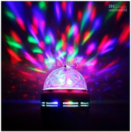 Crystal Magic Ball LED Light Effects Stage Lights 3W E27 RGB Rotating Laser Light For Party Disco DJ Bar Mini Styles