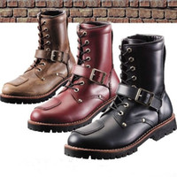 Wholesale High Quality vintage racing boots motorcycle racing boots Genuine leather