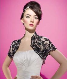 Short Sleeve Black Bolero Jacket Bridal Jacket Custom made Fashion Bridal Accessories Wedding Jackets For Bride Mother