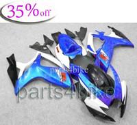Wholesale OFF GSXR GSXR750 blue white Body Kit Fairing for Suzuki GSXR600 GSXR750 GSX R K6 ABS Plastic