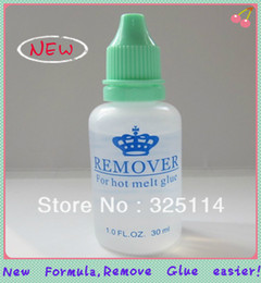 Wholesale 1 bottle ml Fusion Keratin Hot Melt Glue Remover New Formula More Efficient For Keratin Nail Stick Hair Extension Tools