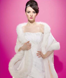 New Fashion Winter Fur Long Bridal Wedding Wrap shawl coats bolero One Size Weddinbg Accessories For Winter