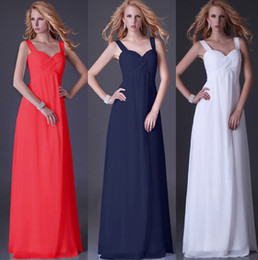 Wholesale Simple Elegant Straps A line Chiffon Hot Sale IN STOCK US size Prom Bridesmaid Dress JK003