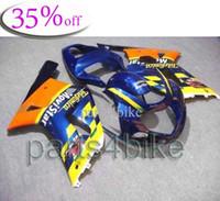 For Suzuki telefonica - OFF GSXR600 GSXR750 Telefonica yellow blue Body Kit Fairing for Suzuki GSXR GSXR750 GSX R