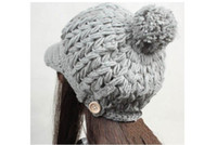 Wholesale Delicate Gift Handmade Women Hat Winter Beanies Peaked Cap For Woman Colors For Choose Cloth Accessory W4218