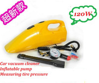 Wholesale Portable W super high power Mini V Super Suction Car Vacuum Cleaner Air Pump tire pressure control