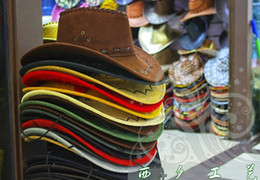 Wholesale Women Mans Cowboy Hat Multi Color Hard Cowboy Cap mixed colors