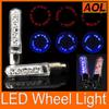 9 patterns 7leds Bike Bicycle car Motorcycle tire Spoke Wheel Valve LED Flash alarm Light Neon LED Flash Tyre Lights