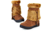 western boots - Western Boots For Women Fur Tassel Black Brown Yellow Color prs S4