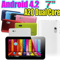 Wholesale Color A20 Dual Core Inch Tablet PC M RAM GB Android Capacitive Multi Touch Dual Camera HDMI USB Port G Sensor D Games A70X