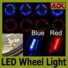 9 patterns 7leds Bike Bicycle car Motorcycle tire Spoke Wheel Valve LED Flash alarm Light Neon