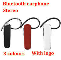 One with two Phones For Apple iPhone  New arrival sport mini headphone wireless handsfree stereo Bluetooth Headset Universal Ear hook Earphone For cell phone free shipping