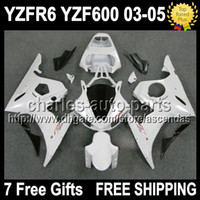 7gifts+ Seat cowl Full Fairing For YAMAHA White YZFR6 03- 05 Y...