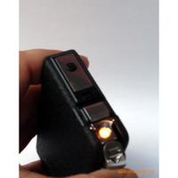 Rectangular   Windproof Metal Automatic Cigarette Case Magic Holder 15pcs Smoke Cigarette Lighter Case Storage Box Black