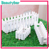 Wholesale White Color Wooden Fence Artificial Flower Pot Wooden Vase Flower Holder Home or garden Decoration
