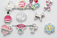 Wholesale 120pcs designs floating charms for glass memory living floating locket pendant Xmas gift no locket