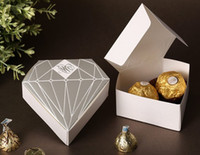 Favor Boxes Gold Paper 2013 New Items 500pcs Wedding Diamond Shaped Favor Boxes Candy or Chocolate Favour Boxes For Wedding Party