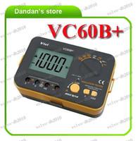 Wholesale LLFA2319 Victor VC60B Digital Insulation Resistance Tester Megger MegOhm Meter DC250 V AC750V