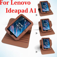 Wholesale For Lenovo IdeaPad A1 inch Tablet Degree Rotating Leather Case Cover