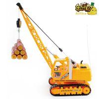 Wholesale Super large wireless remote control engineering car belt charge crane toy car crane tower crane model