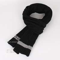 Cheap Winter solid color twisted cashmere knitted thick yarn scarf winter wool thermal all-match male scarf