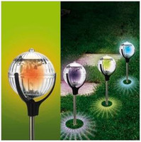 Wholesale 2015 New Arrival Ip68 Street Outdoor Lighting Spherical Rush To The New Solar Energy Lamp Garden Ground Lights Water Lights