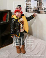 Wholesale The new winter children s clothing Paul coat black cotton padded clothes boring will TongWei garment manufacturer