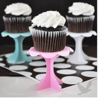 Wholesale single cupcake stand blue pink white