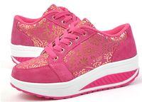 Wholesale New Autumn Winter Shook Shoes Low Help Women s Fitness Shoes Thin Shoes Platform Shoes Heighten Swing Shoes Sports Shoes Color Size