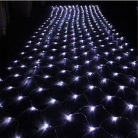 Wholesale 1 M x1 M flash modes Leds LED Net string light celebration wedding ceremony fairy lighting Christmas xmas