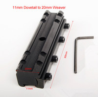 Wholesale 11mm Dovetail to mm Weaver Picatinny Rail Base Sight Scope Mount Converter quot to quot