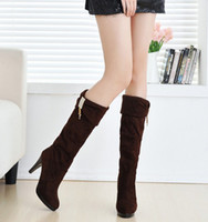 Wholesale The new women s boots high heeled boots in the fall and winter of