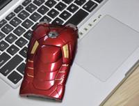al por mayor hombre de hierro iphone 4s-FedEx Marvel Avengers Hombre de hierro Mark VII MK7 Edición Especial 3D Funda Funda de plástico con Flash LED para iPhone 4 4G 4S 5 5G Retail Box