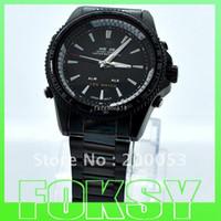 Sport Men's Round Wholesale - Black Band Leather Man Sports Wrist Watch Weide Metal Date Alarm Analog LED Gift 10pcs