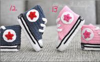 Wholesale Hot Sale Crochet baby sneakers Handmade Crochet Baby indoor Shoes footwear sneaker pairs