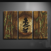 More Panel abstract drawing - Framed Panels Hand Painted High End Wall Decor Drawing Abstract Chinese Art Painting Bamboo Decoration XD01209