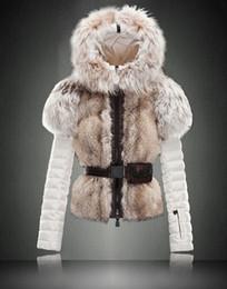 Femmes Designer Downcoats cuir véritable faux fourrure de la fourrure de fourrure Hoodies manteau léger chaud S-XL Livraison gratuite à partir de hoodie de la fourrure pour les femmes fabricateur