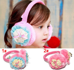 Wholesale Pearl Flower Design Ear Warm Children Ear Warm Ear Muffs Kids Clothes