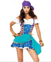Wholesale Caribbean Performance Costumes - lingerie Caribbean Pirate Women thief pirate costume cosplay halloween costumes ds performance clothing costumes