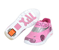 Wholesale 2014 HOT SALE Single Wheel Heelys Skate Shoes Children Heelys Models Roller Skates For Boys and Girls Inline Skates